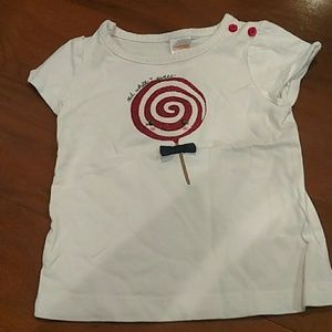 Gymboree red, white, and sweet shirt